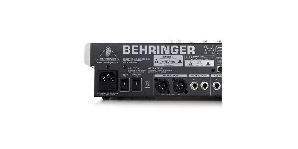 x 1832usb xenyx behringer back