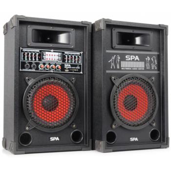 """SKYTEC SPA-800 Altavoces Activos para Karaoke 8"""" PAR 170143"""