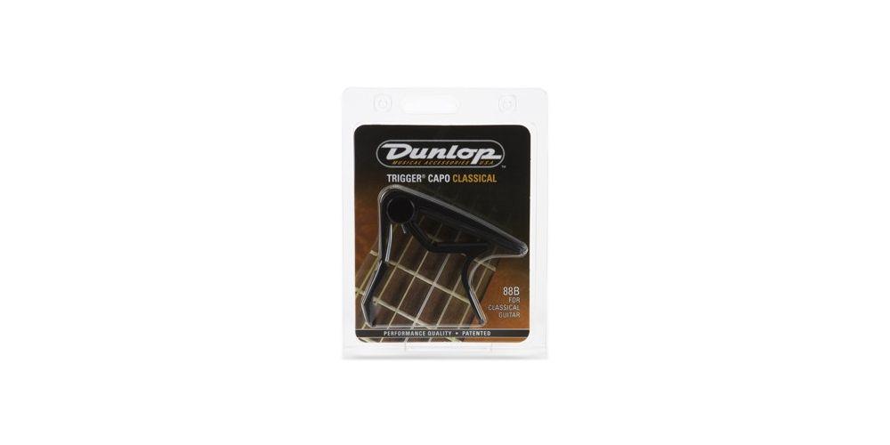 Dunlop Cejilla Trigger Clásica Recta Negro