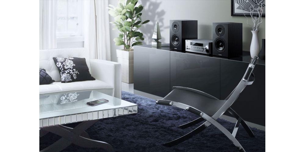 yamaha mcrn470 silver minicadena musiccast altavoces negro en casa