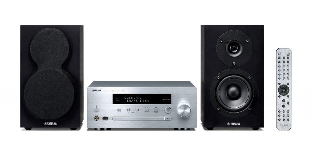yamaha mcrn470 silver minicadena musiccast altavoces negro