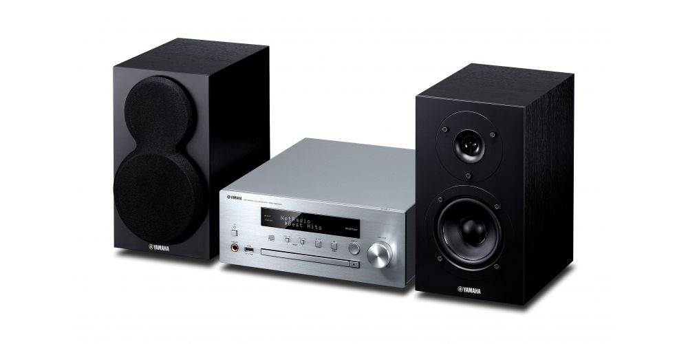 yamaha mcrn470 silver minicadena musiccast