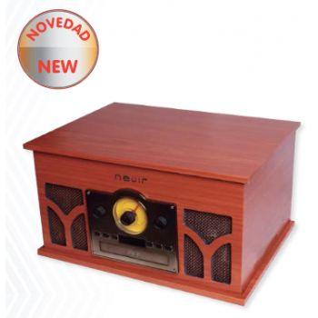 NEVIR 807-VRBUC Tocadiscos Retro Conversor De Audio (Madera)