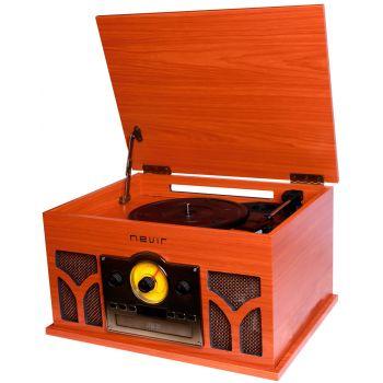 NEVIR 807-VRBUC Tocadiscos Retro Conversor De Audio (Madera) ( DEFECTO ESTETICO )