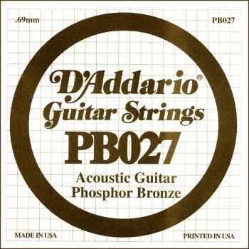 D´addario PB027 Cuerda Suelta para Guitarra Acústica