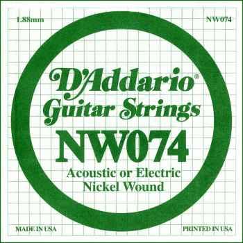 D´addario NW074 Cuerda Suelta para Guitarra Eléctrica