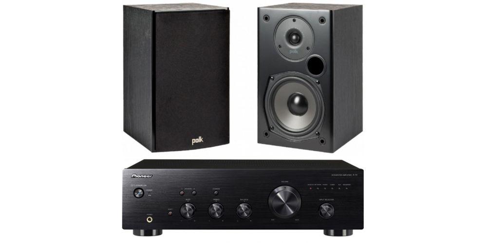 pioneer a10k black polk audio t15 bk