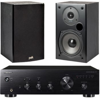Pioneer A-10AEK+Polk Audio T15B Conjunto Audio