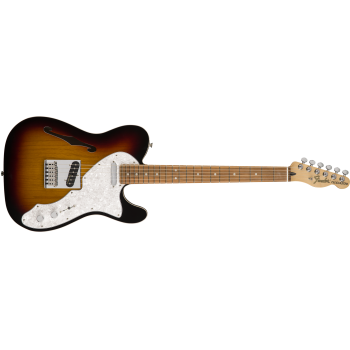 Fender Deluxe Telecaster Thinline Pau Ferro Fingerboard 3-Color Sunburst