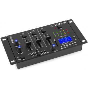 Vonyx STM3030 Mezclador 4 canales USB/MP3/BT/REC 172990 By-Vexus