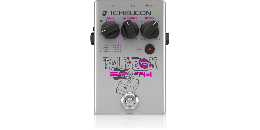 tc helicon talkbox synth pedal efectos