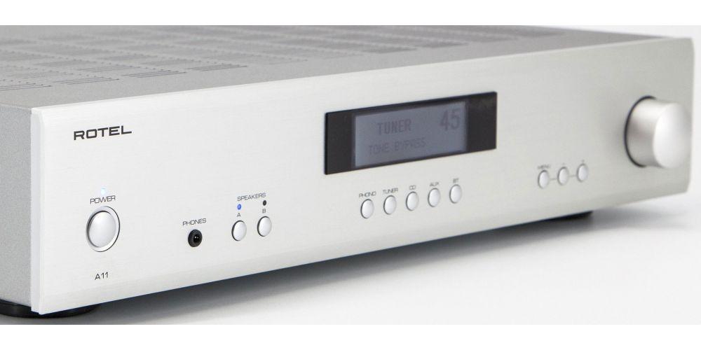 rotel A11 amplificador integrado plateado