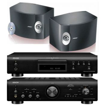 Denon PMA-800AE Black +DCD800 Black +BOSE 301, Conjunto Sonido