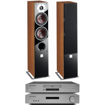 CAMBRIDGE AXA35 +AXC35+Zensor 5 Walnut Conjunto Audio