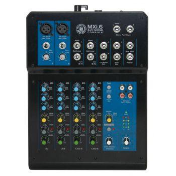 Topp Pro MXI.6 Mezcladora de Audio 6 Canales