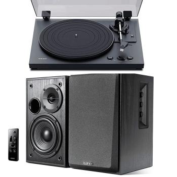 Equipo HiFi TEAC TN-175 Giradiscos Con Previo Phono + Edifier R1580MB Altavoces Activos