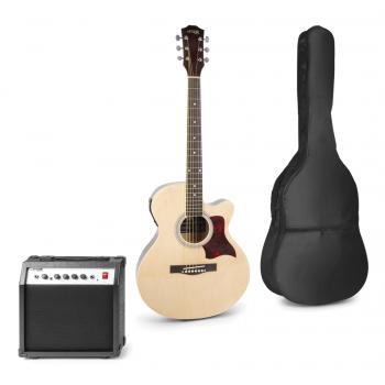max Show Kit Guitarra Acústica Electrificada Natural 173172