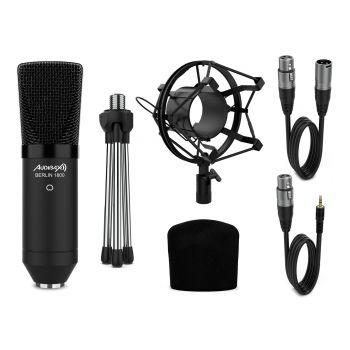 Audibax Berlin 1800 Black Pack Micrófono Studio Gran Diafragma