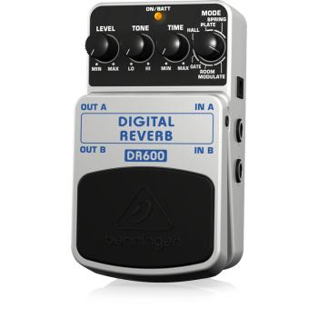 BEHRINGER DR600 Pedal  Guitarra Efecto Dig/Reverb Behringer DR-600