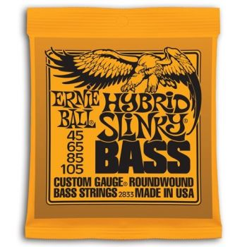 ERNIE BALL EB2833 Set Cuerdas Bajo Slinky Entorchado Redondo 45 - 105