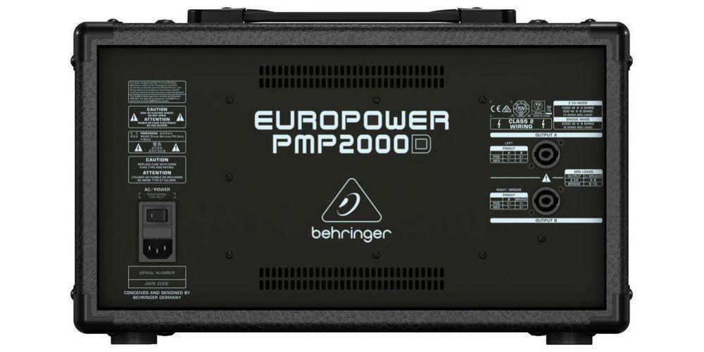 behringer pmp2000d rear
