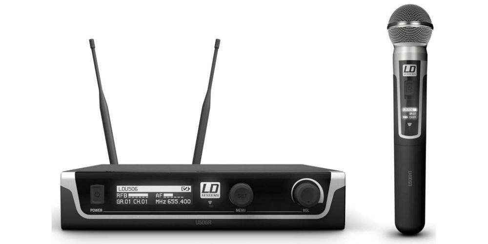 microfono inalambrico doble de mano U506HHD