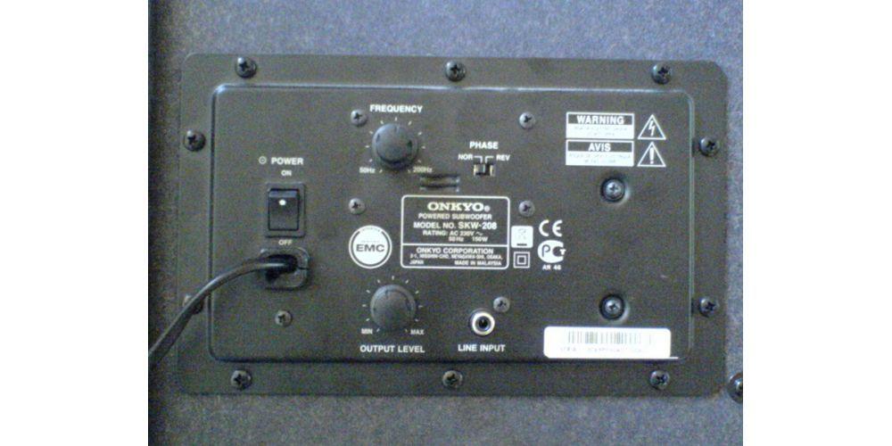 onkyo skw208 s subwoofer conexiones