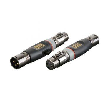 DAP Audio XGA37 Adaptador XLR Macho / XLR Hembra con interruptor