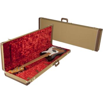 Fender G&G Deluxe Precision Bass® Hardshell Estuche amarillo y rojo