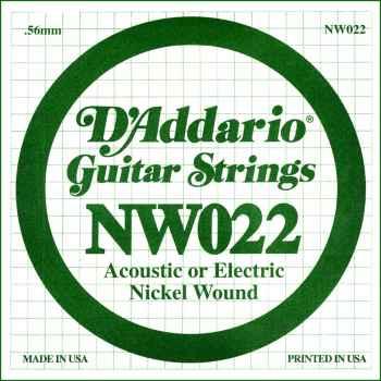 D´addario NW022 Cuerda Suelta para Guitarra Eléctrica