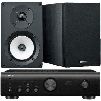 DENON PMA-520 BK+Onkyo D055  Conjunto audio