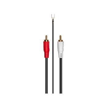 RCA Phono Cable 2,5 metros RCA-RCA  con toma de masa