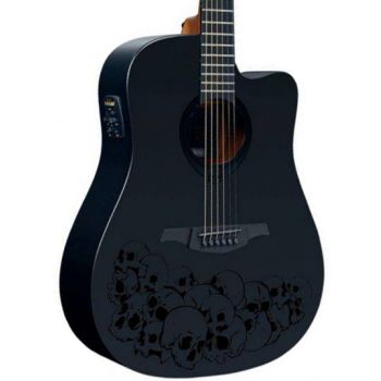LAG LE18-SK1DCE Guitarra Electro Acústica Formato Dreadnought con Cutaway Serie Skulture