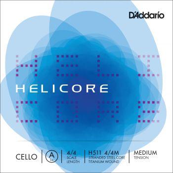 D´addario H511 Cuerda Suelta Contrabajo Helicore La (A) 4/4 Tensión Media