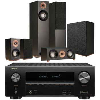 Denon Equipo AV AVR-X2600 +Jamo s805 HCS  Black+S808 Altavoces Home Cinema.