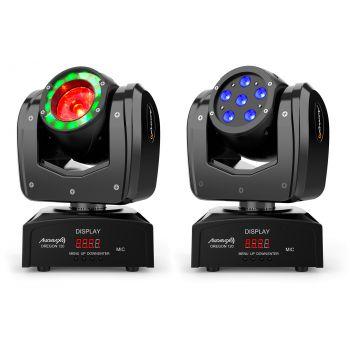 Audibax Oregon 120 Cabeza Movil Discoteca Beam Osram + Wash RGBw 4 in 1
