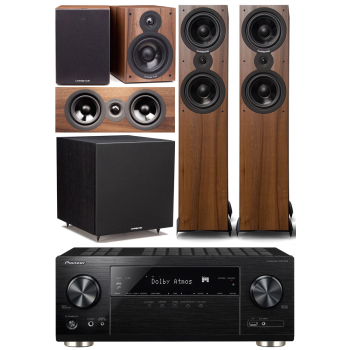Pioneer VSX933+Cambridge SX80 walnut Cinema Pack 5.1 Conjunto Home cinema