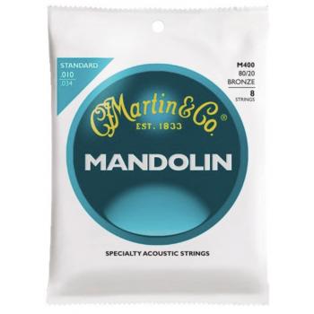 Martin M400 Cuerdas Mandolina Bronze 80/20 Light 10-34