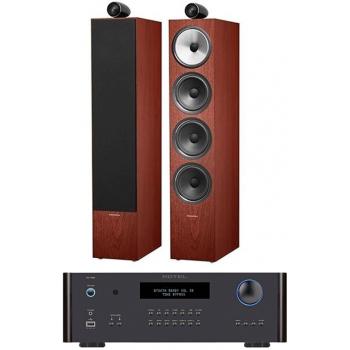ROTEL RA-1592 Black+ Bower Wilkins 702 Rosenut Conjunto Audio