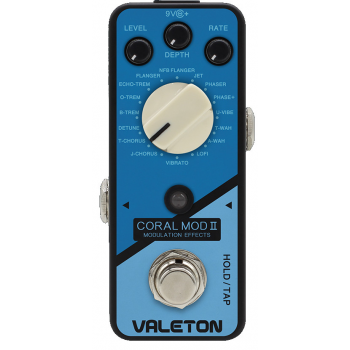 Valeton Coral MOD II Pedal de Efectos para Guitarra Eléctrica