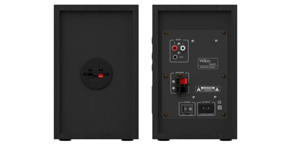 wiibo neo50 v2 black altavoces estanteria hifi back