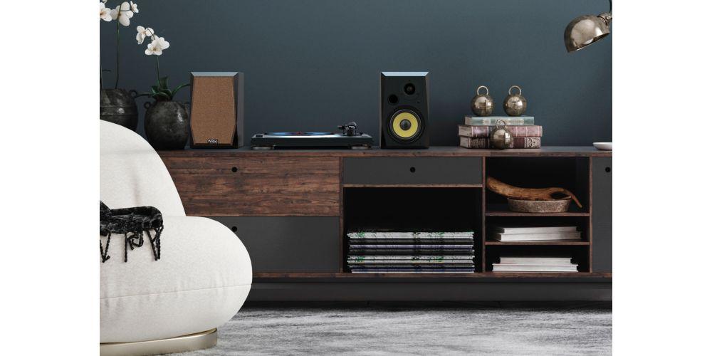 wiibo neo50 v2 black altavoces estanteria lifestyle