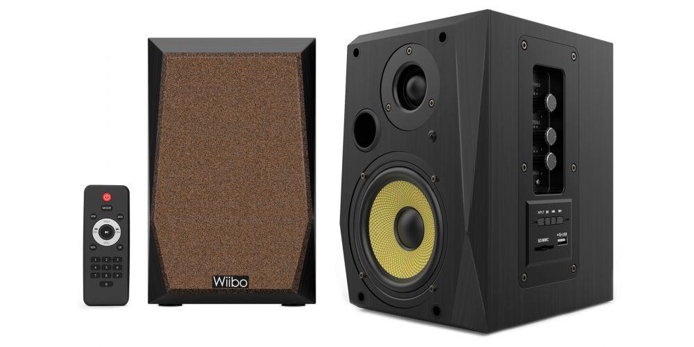 wiibo neo50 v2 black altavoces estanteria mando