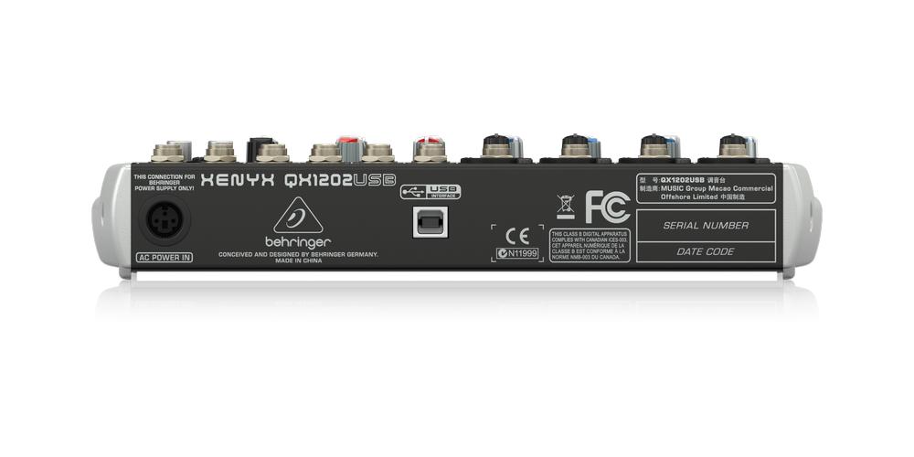 behringer QX1202USB conexiones