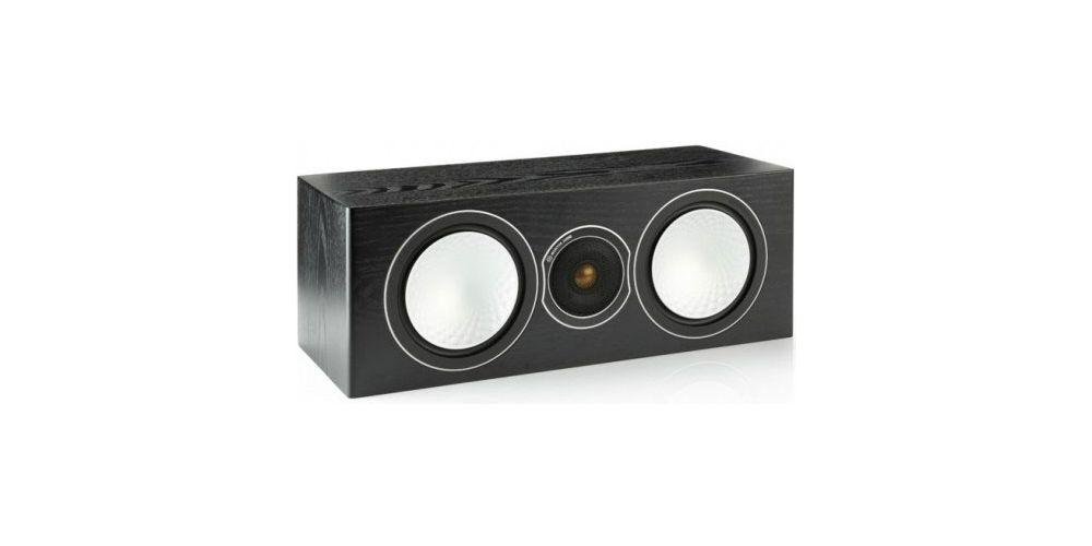 monitor audio silver centre black oak