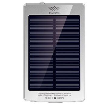 Power Bank Solar 7500 Mah ICARUS ICPB75