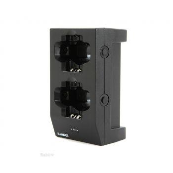 SHURE SBC200 Cargador doble tipo Dock, permite la carga directa de transmisores/re