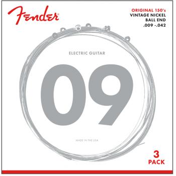 Fender Cuerdas de Guitarra Original 150 Acabado Niquel 150L .009-.042