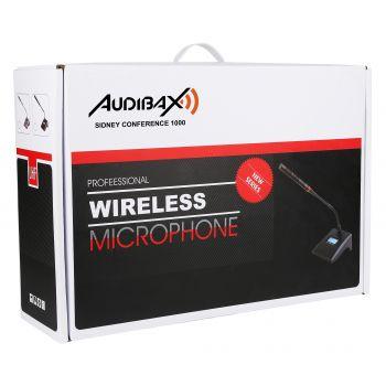 Audibax Sidney Conference 1000 Sistema Inalámbrico de Conferencia 4 Canales UHF ( REACONDICIONADO )