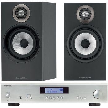 ROTEL A-11 Silver + BW 606 Black conjunto audio
